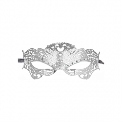 BUTTERFLY MASQUERADE MASK PLATA