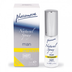 HOT SPRAY NATURAL DE FEROMONAS INTENSO PARA HOMBRES 5 ML