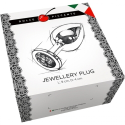 PLUG ANAL JEWELLERY LARGE ORO / RUBY