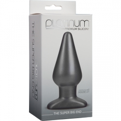 PLATINUM THE SUPER BIG END PLUG SILICONA NEGRO