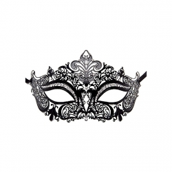 PRINCESS MASQUERADE MASK NEGRO