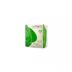 COTTONS COMPRESA ULTRAFINA CON ALAS REGULAR ALGODÓN 100%