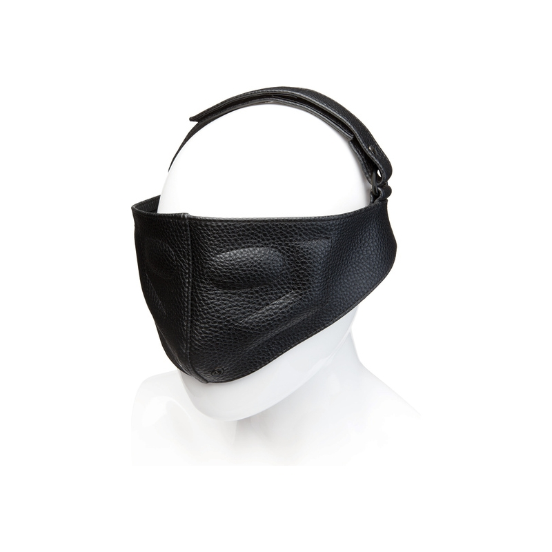 LEATHER BLINDING MASK - NEGRO