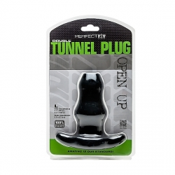 DOUBLE TUNNEL PLUG LARGE - NEGRO