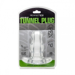 DOUBLE TUNNEL PLUG LARGE - TRANSPARENTE