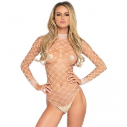 LEG AVENUE BODY DE MALLA BLANCO