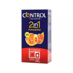 PRESERVATIVOS CONTROL 2IN1 FINISSIMO LUBE NATURE 6UDS