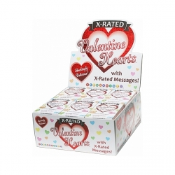 X RATED CARAMELOS CON FORMA DE CORAZoN DISPLAY 24UDS
