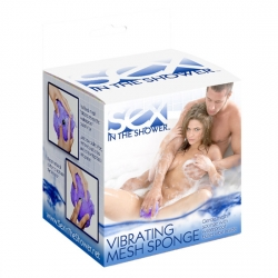 SEX IN THE SHOWER ESPONJA DE MALLA CON VIBRADOR