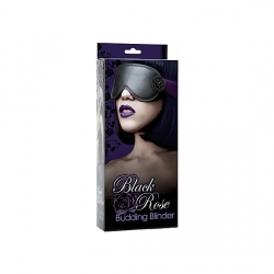 BLACK ROSE MASCARA BONDAGE DE SEDA